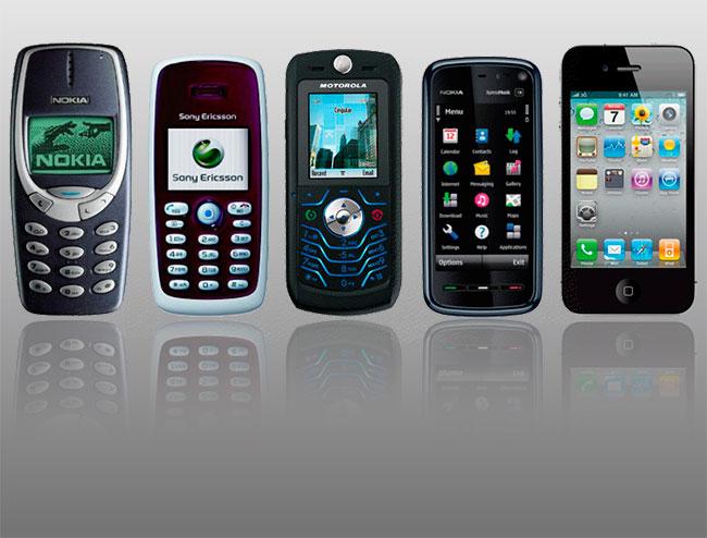 История мобильников